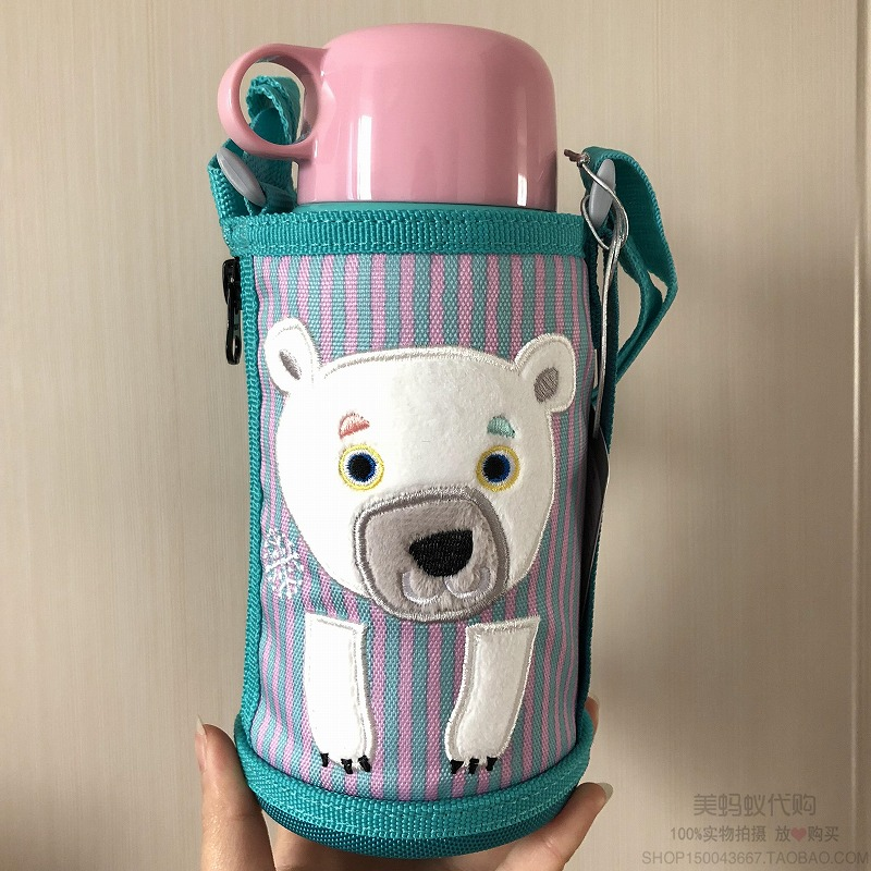 19年新款日本本土TIGER虎牌狮子小猪兔子黑猫儿童两用保温杯600ML