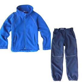 【可批】儿童  户外 软壳衣/裤套装  软壳冲锋衣/裤套装2-90码图片