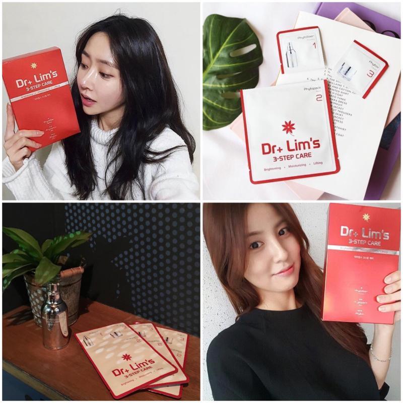 韩国正品代购◆Dr+Lim's 3-step care三步面膜 保湿提亮抗皱紧致