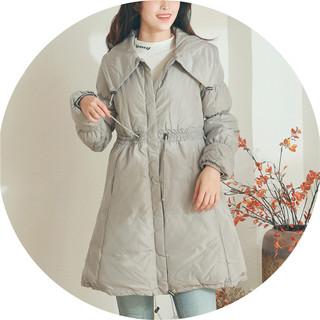 国内专柜货!白鸭羽绒服冬女装显瘦保暖中长款加厚外套大码106格