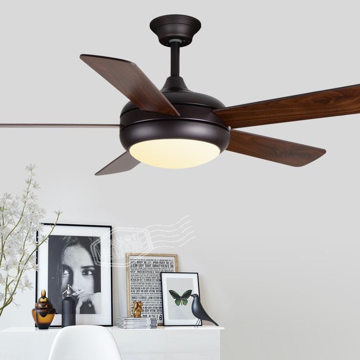 Loft промышленность вешать вентилятор свет американский гостиная магазин свет вешать вентилятор люстра современный простой листья ретро вентилятор свет