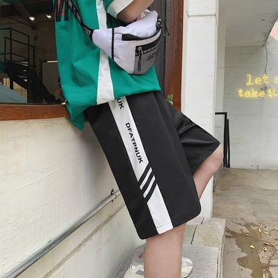 K187 P25 夏装新款 男装侧边印花休闲短裤男宽松韩版情侣潮五分裤