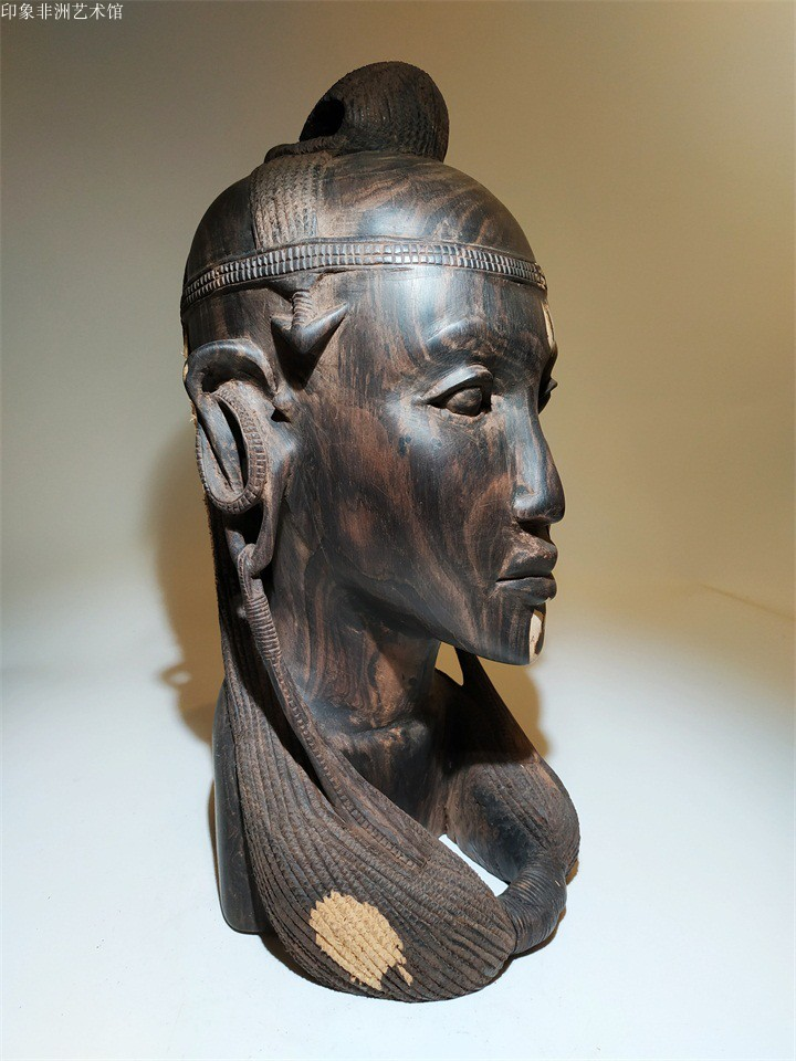 African original imported black wood carving Masai chief ebony carving figure ornaments Kenya home club accessories
