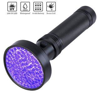 100LED 紫光手电筒 UV手电筒 荧光剂检测 美甲快干手电
