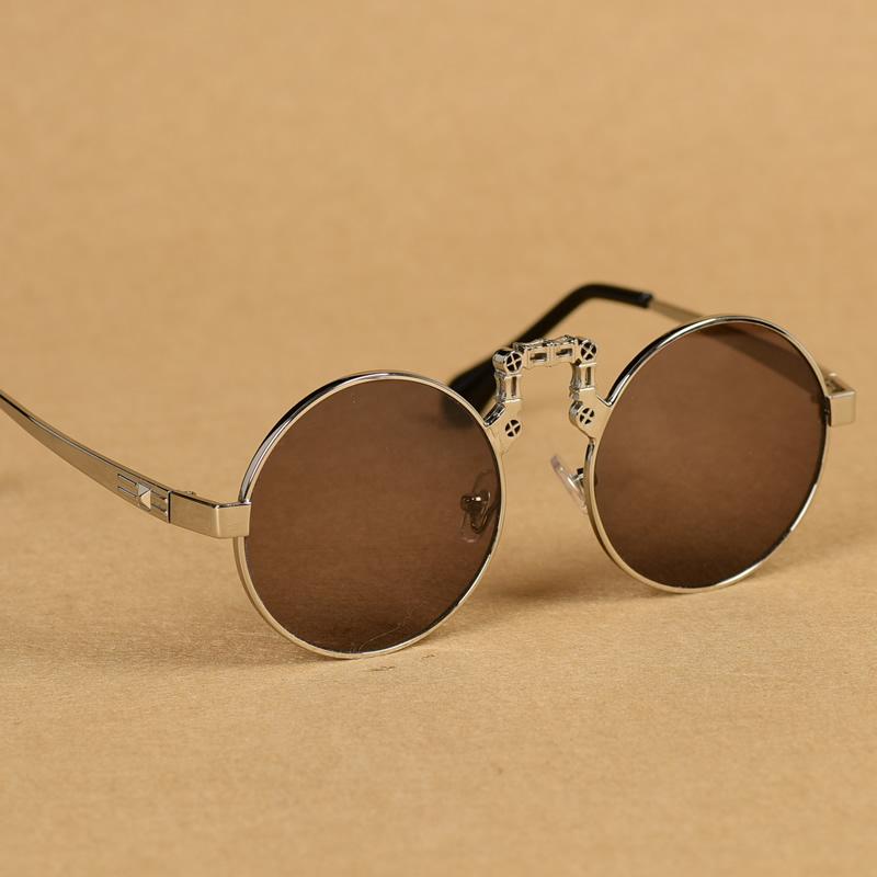 Natural stone crystal glasses sunglasses mens and womens Sunglasses round retro eye care cool authentic Donghai