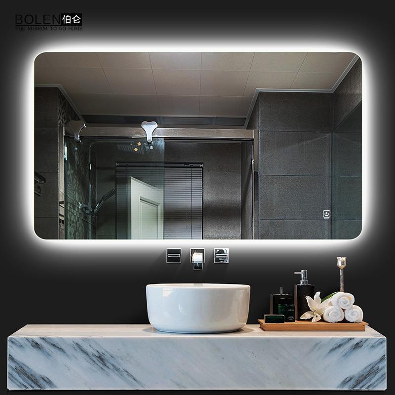 BOLEN智能无框浴室镜背光镜卫生间镜子灯镜防雾带灯镜子装饰镜子