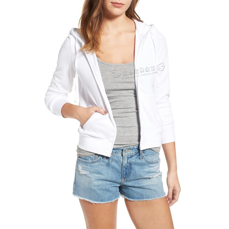 国内现货 甜心美国购 Juicy Couture 白色 毛巾料 拉链连帽衫卫衣