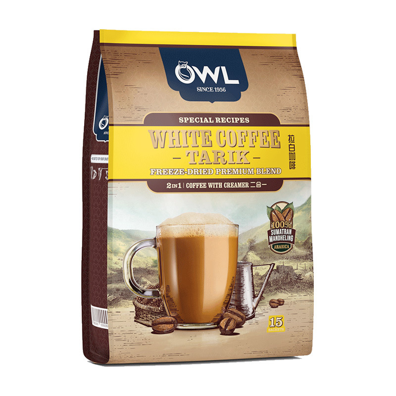 Malaysia imported owl owl two in one white coffee instant coffee 15 bags 375g