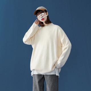 大码女装宽松套头慵懒风毛衣2020年秋季新款复古港风宽松显瘦上衣