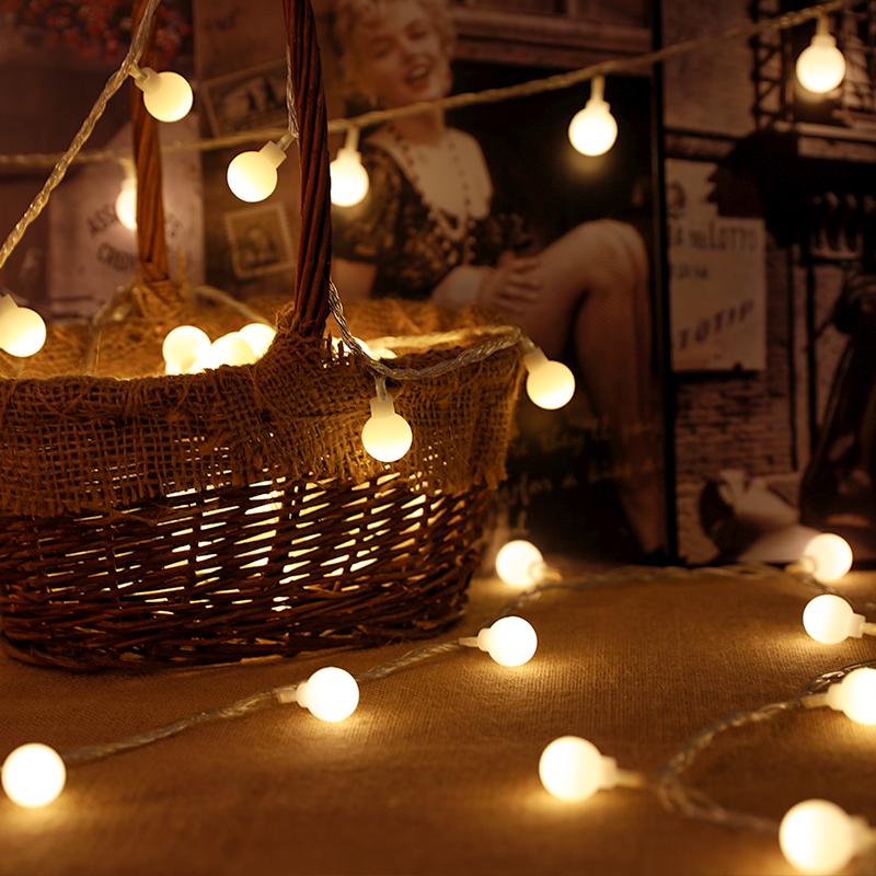 灯串星星灯装饰摆摊夜市小彩灯墙上灯饰网红led灯泡宿舍挂床上usb