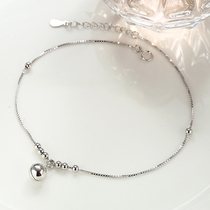 925 sterling silver with bells with sound foot chain womens bracelet foot chain Korean edition Simple student Sen Department antique ankle chain