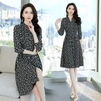 2021年新款秋装连衣裙秋季大码少妇女装衣服30-35-40-45-50到55岁