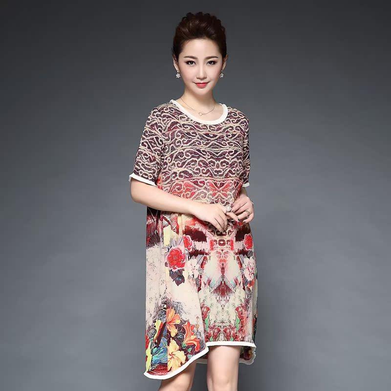 淘宝网京东购物商城正品牌夏季新款中老年女装连衣裙妈妈装中长款