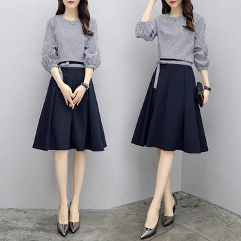 春装2018新款女装时髦套装女韩版时尚上衣配裙子半身裙气质两件套