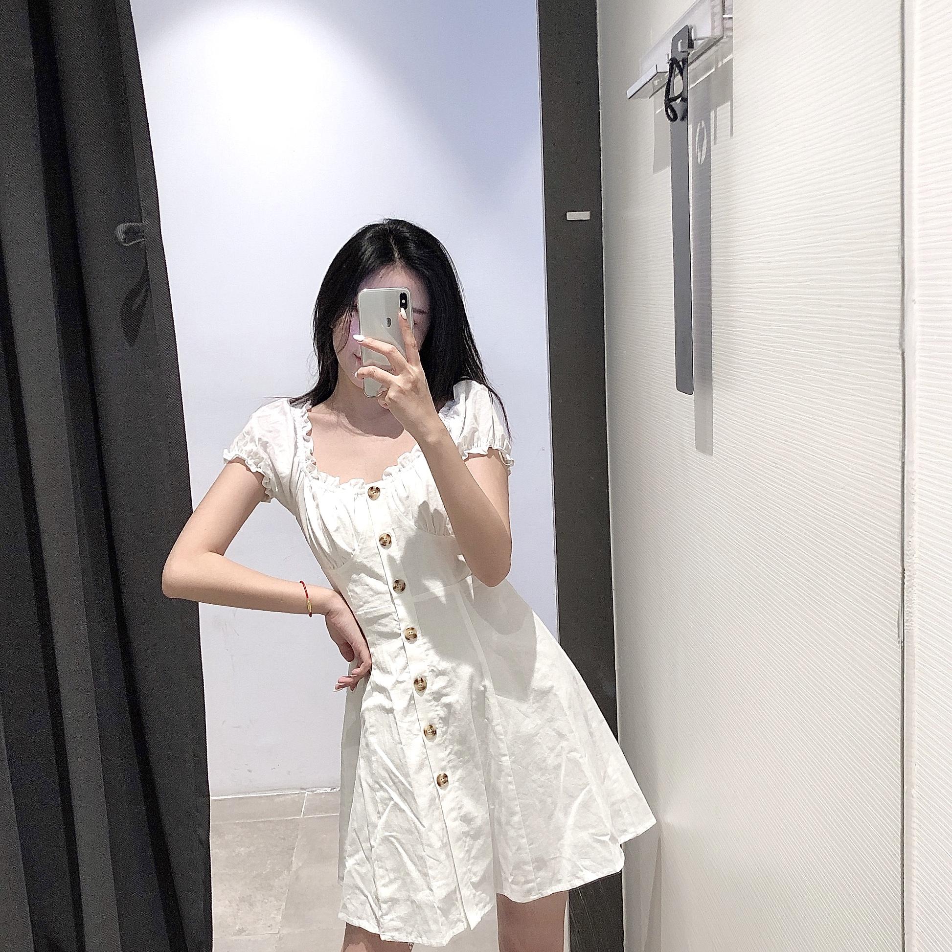 UR DESY夏装智熏法式桔梗泡泡袖复古初恋裙连衣裙女YL10S7ES2000