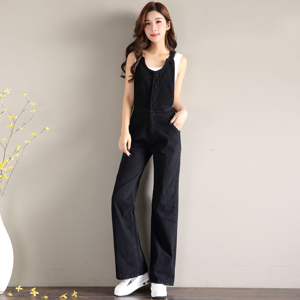 Fall 2019 new style back pants loose jeans womens Micro pull High Waist Wide Leg casual pants temperament flared pants