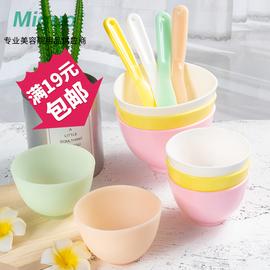 美容硅胶面膜碗2件套装 大号软调膜碗面膜棒刷无异味DIY面膜工具图片