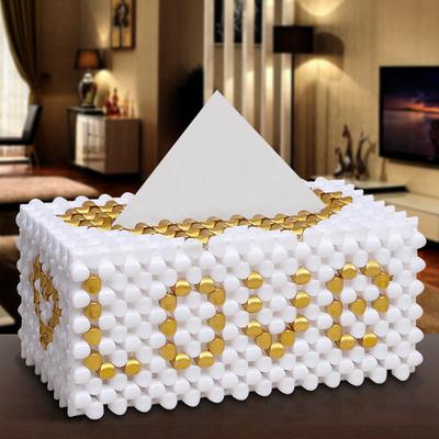 diy手工串珠散珠子制作纸巾盒材料包成人编织家居抽纸盒工艺摆件