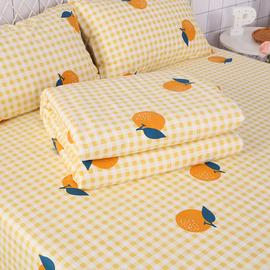 大橘子小清新纯棉被罩被套棉单人150x200双人200x230学生宿舍女生图片