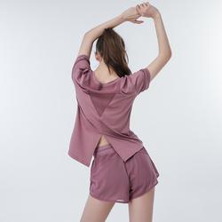 瑜伽服套装女速干衣薄款防走光短裤健身房运动跑步服宽松显瘦夏季