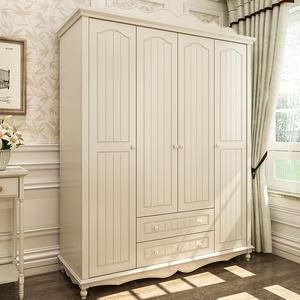 衣柜实木衣柜推拉门欧式衣柜柜子卧室田园衣柜简约衣柜儿童衣柜