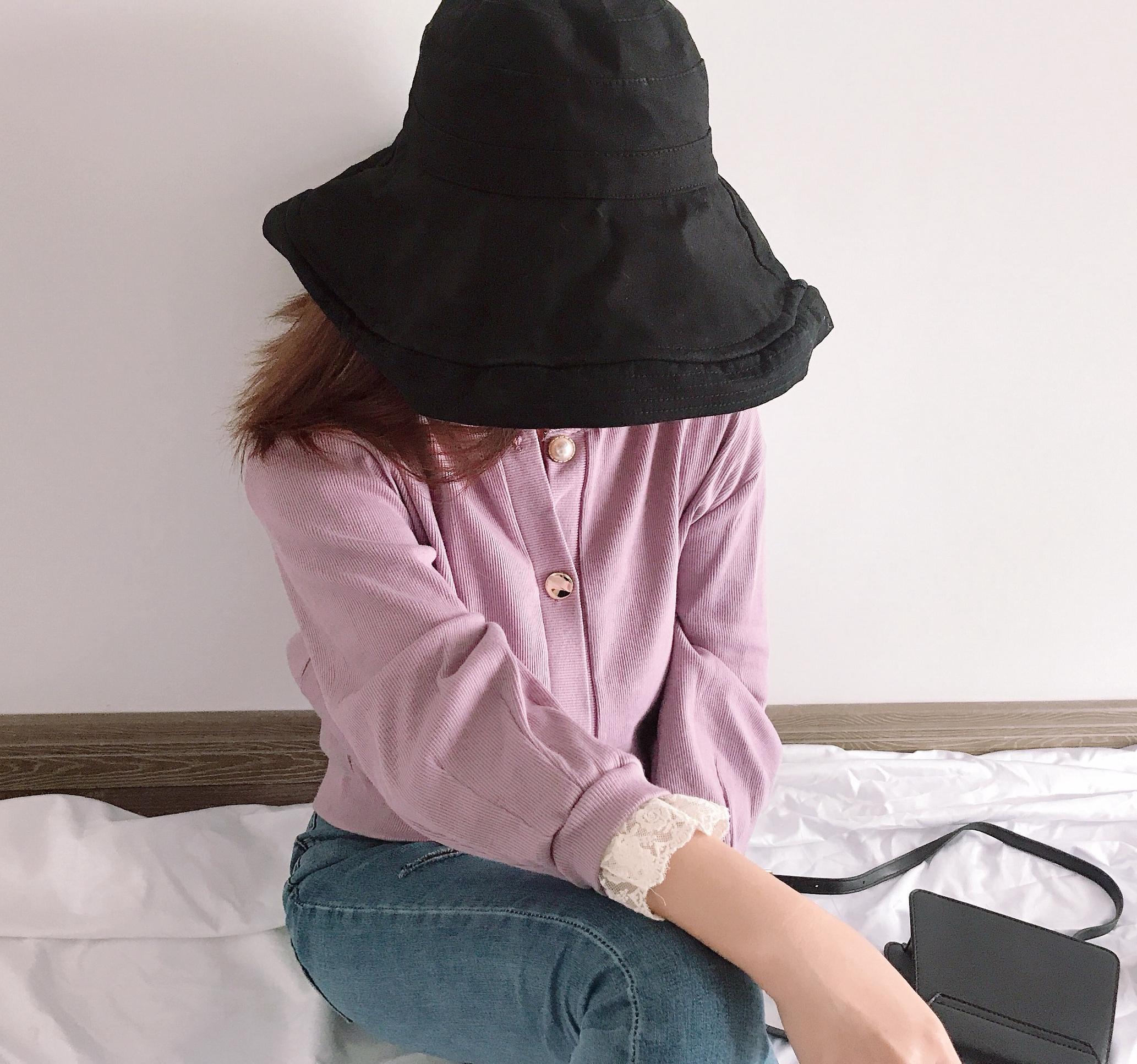 J Room韩系INS风淑女气质款蕾丝拼接领口袖领纽扣不一小开衫外套