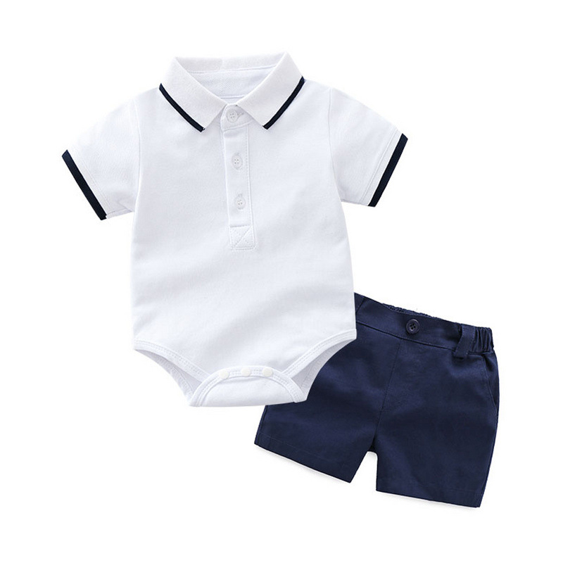 Spring and Summer Boys Polo Shirt Short Sleeve two piece set polo shirt