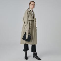 范洛2020秋冬新款灰驼色英伦风衣女中长款薄款休闲百搭外套女