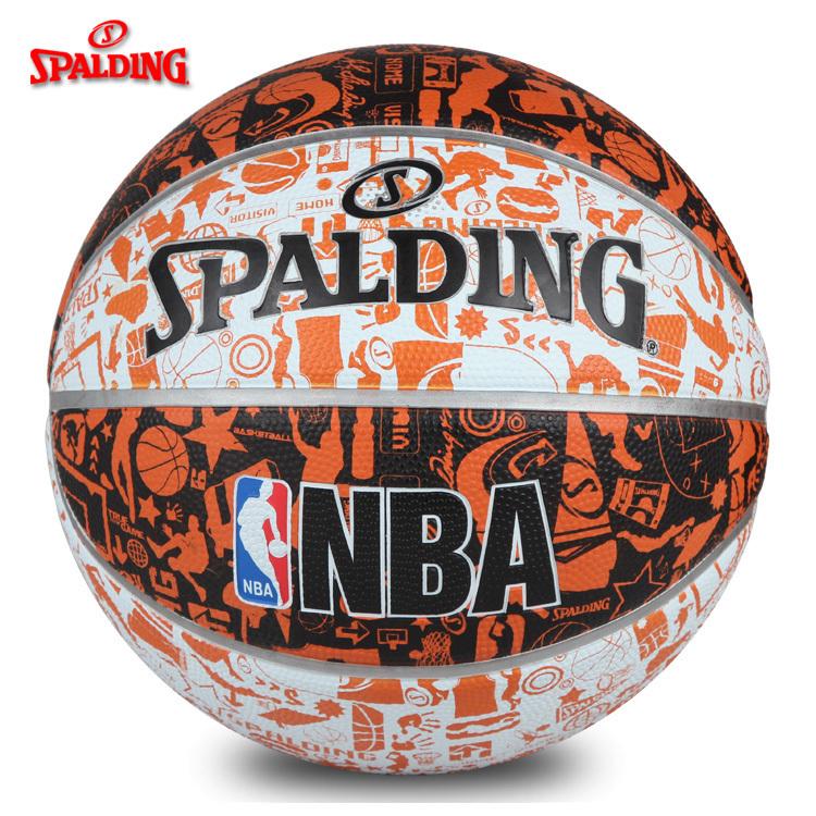斯伯丁篮球NBA涂鸦街头7号七号室外篮球橡胶材质73-722Y/176Y图片