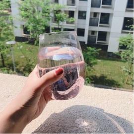 杯子家用创意星空杯个性潮流网红ins风啤酒杯好看的水杯女玻璃杯