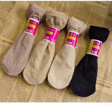 厂家直销10双装女士黑色短丝袜包芯丝袜防勾丝防臭短袜肤色丝袜女