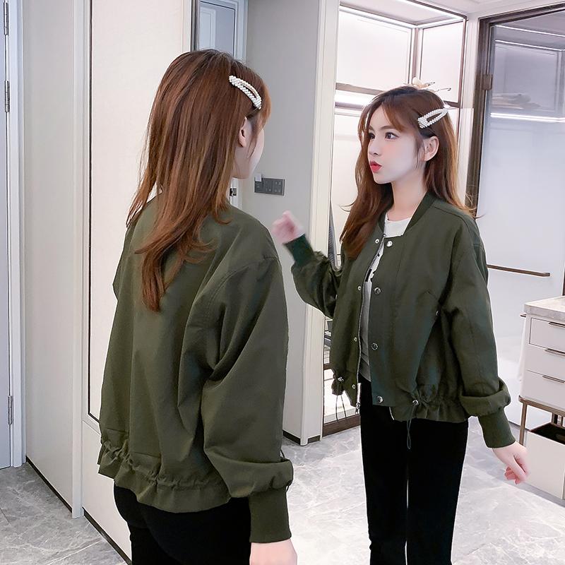 小个子短款外套女2020年春秋装新款韩版宽松夹克棒球服女士上衣潮