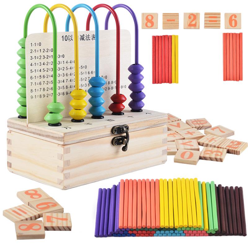 Ребенок изучение счетчик математика учить инструмент начальная школа считать количество палка количество количество палка обучения в раннем возрасте цифровой считать полка считать техника игрушка