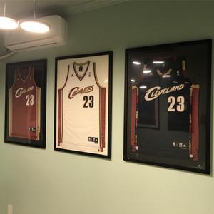 定制实木高端球衣展示装裱篮球相框