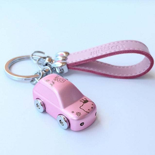 包邮 HelloKitty钥匙扣 Kitty猫汽车匙扣凯蒂猫LED灯手电筒钥匙圈