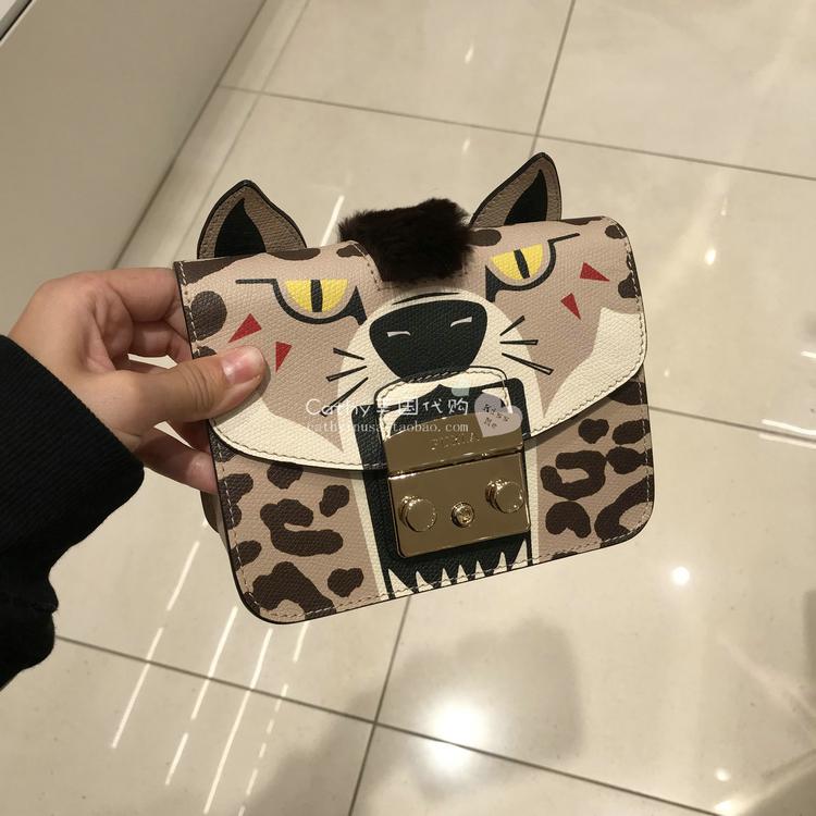 CATHY美国代购 FURLA/芙拉专卖款动物系列小方包女斜挎单肩包可爱