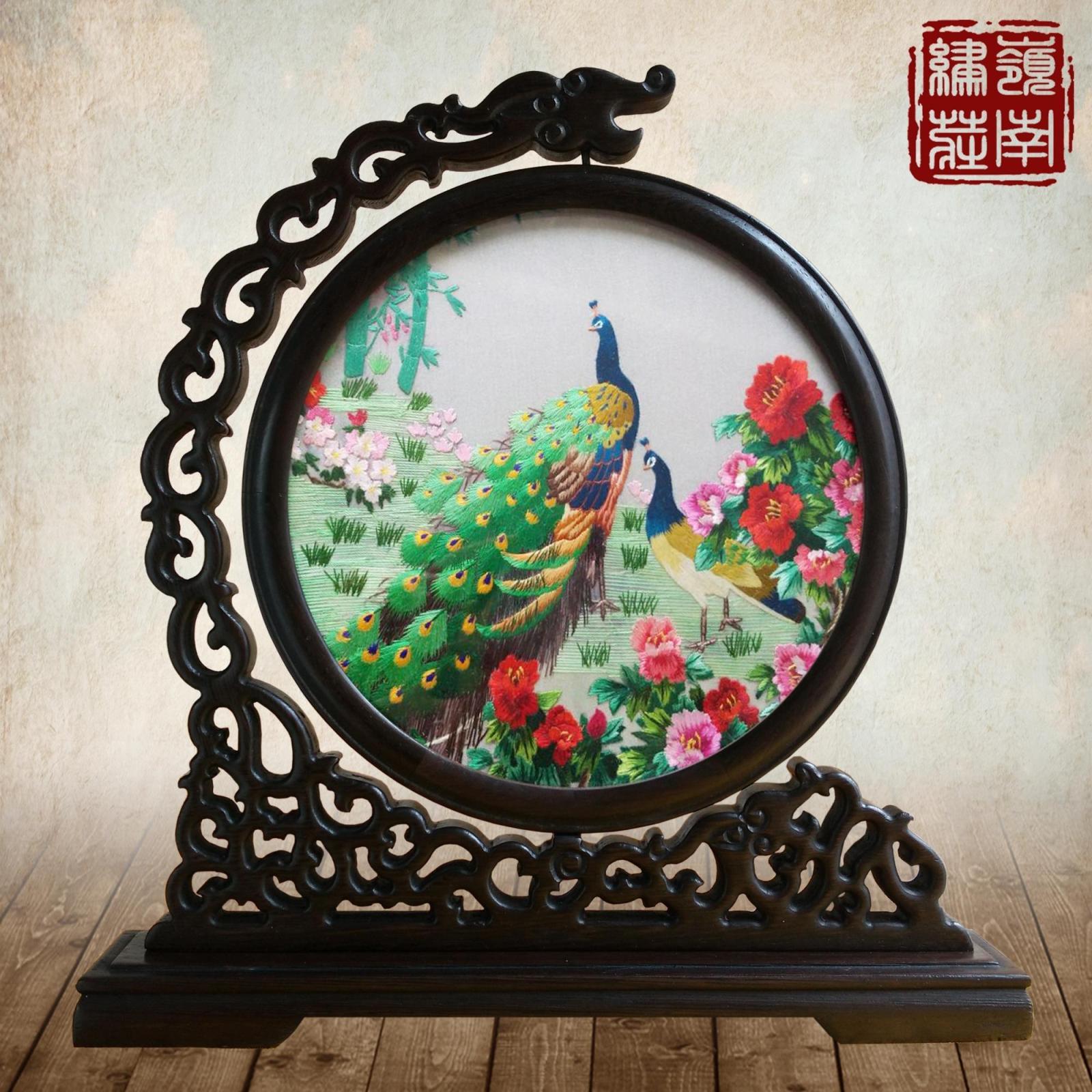 Широкий вышивать провинция гуандун вышивать волна вышивать характеристика ручной работы искусство традиция вышивка бутик китайский ветер бизнес подарок домой украшение вводить партнер