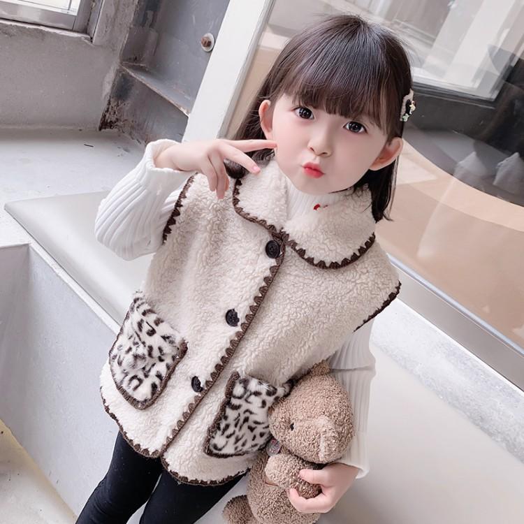 女童秋冬毛毛衣女孩百搭马甲2021秋装新款小童背心上衣女宝宝外套