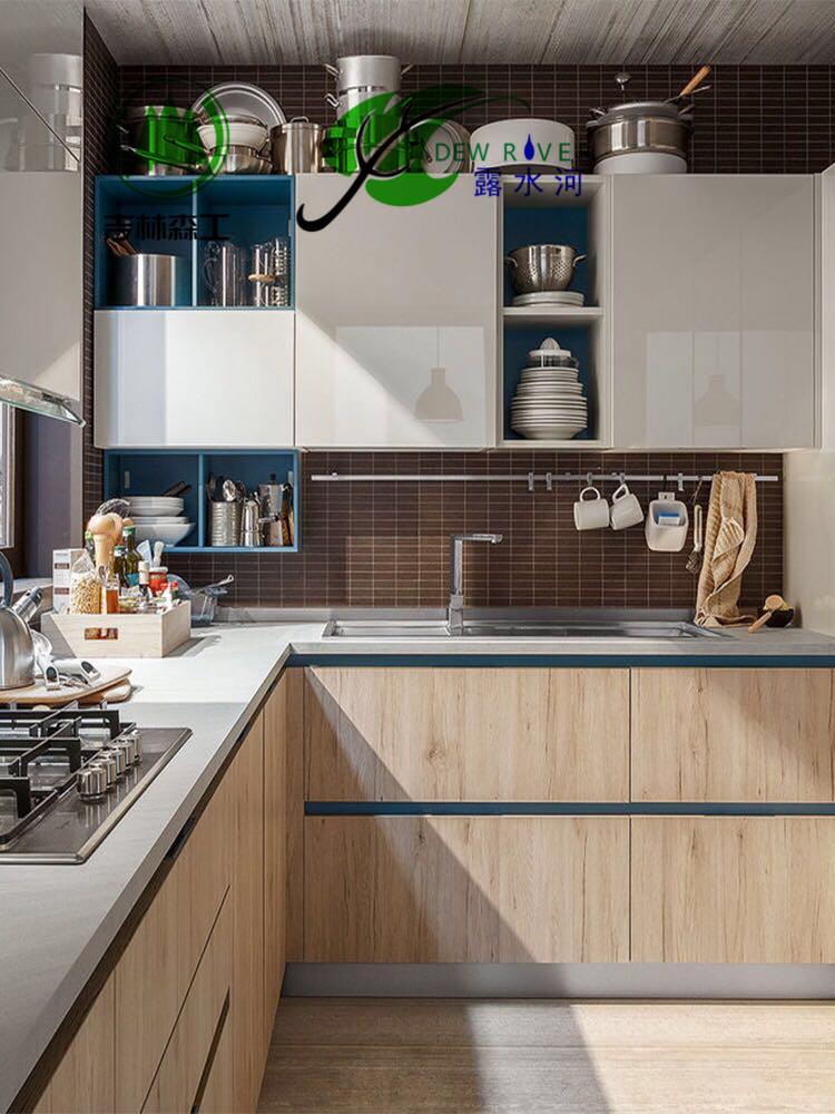 郑州露水河 双饰面板厨柜 现代厨房装修家具整体橱柜定做全屋定制