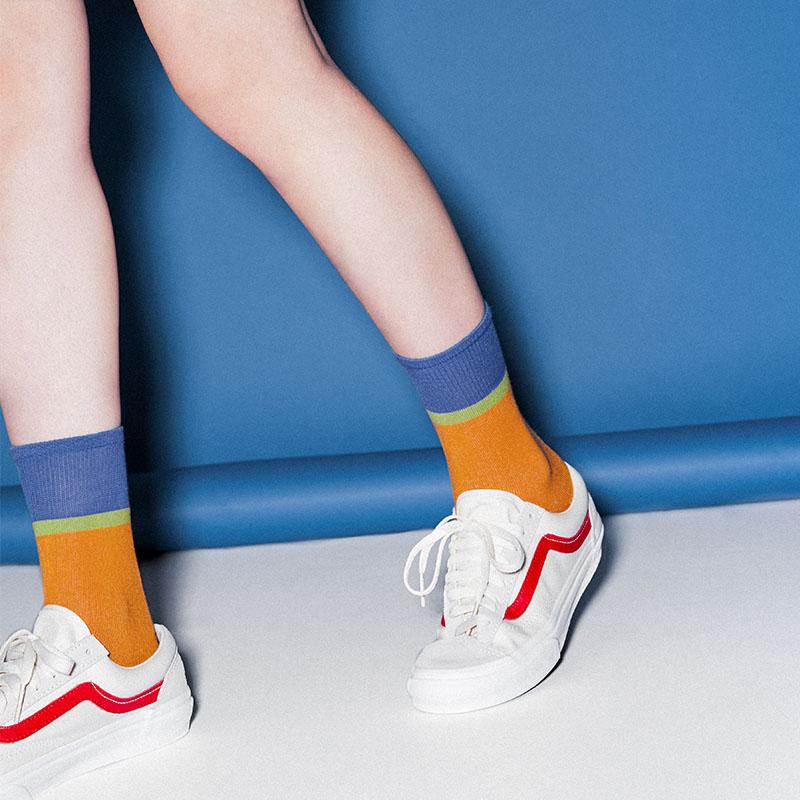 靴下物秋季堆堆袜日系中筒袜学院风棉质薄款透气袜子女韩版潮街头11-27新券