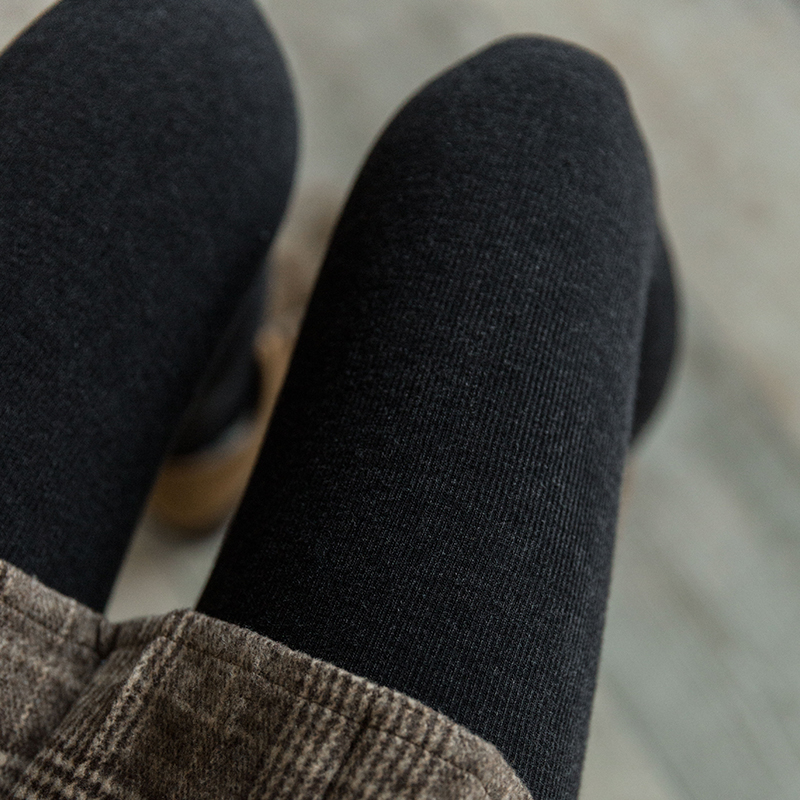 靴下物1200D婴儿绒竖条纹显瘦连裤袜打底袜冬季中厚款美腿袜子女