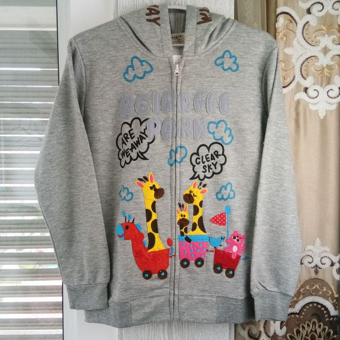 Sweater coat rough womens clothing export day single spring and autumn student cloth giraffe zipper cardigan Hoodie