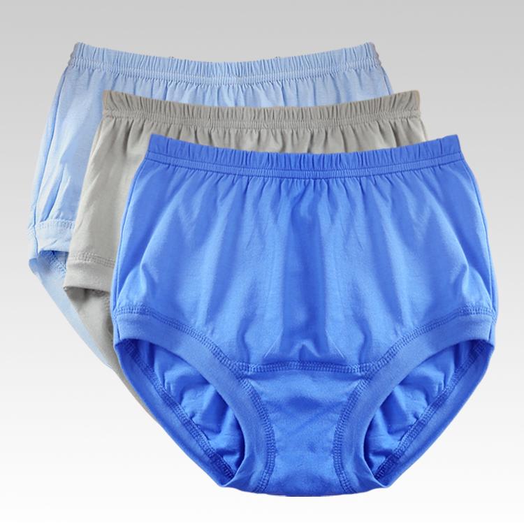 Middle aged and elderly mens underwear pure cotton high waist old mans briefs mens loose oversized shorts plus fattening underwear
