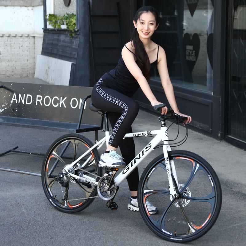 山岳自転車24/26インチダブルディスクブレーキ都市通勤男女学生道路単車