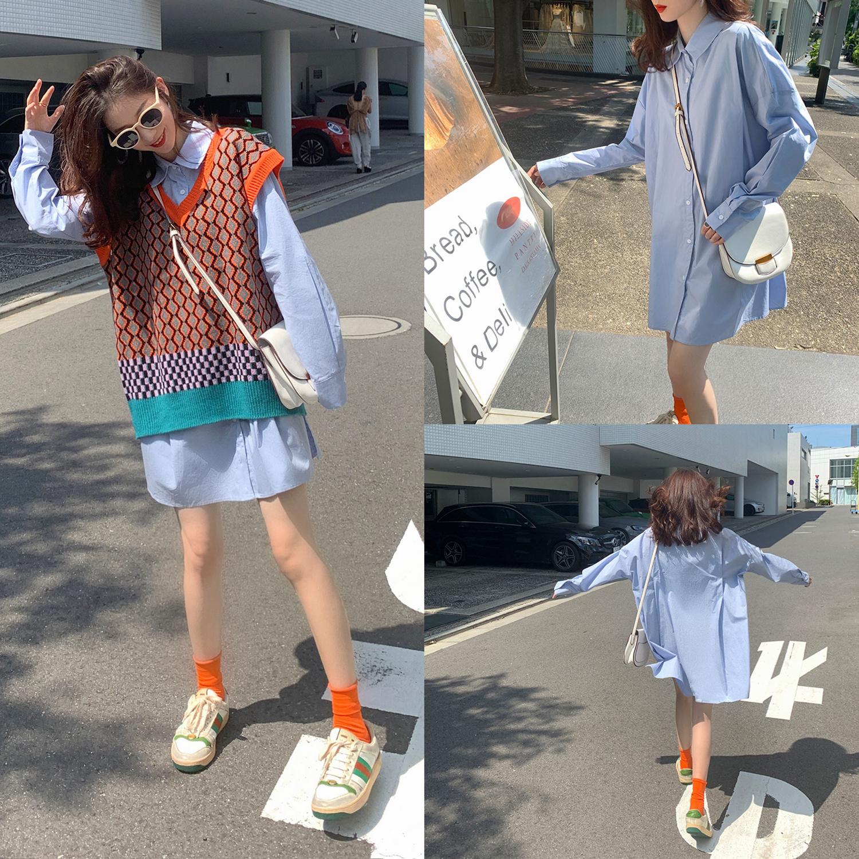 12-02新券韩版小众设计感西装领女秋装衬衫