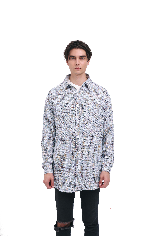 Charlie Luciano 彩虹银线编织格子衬衫