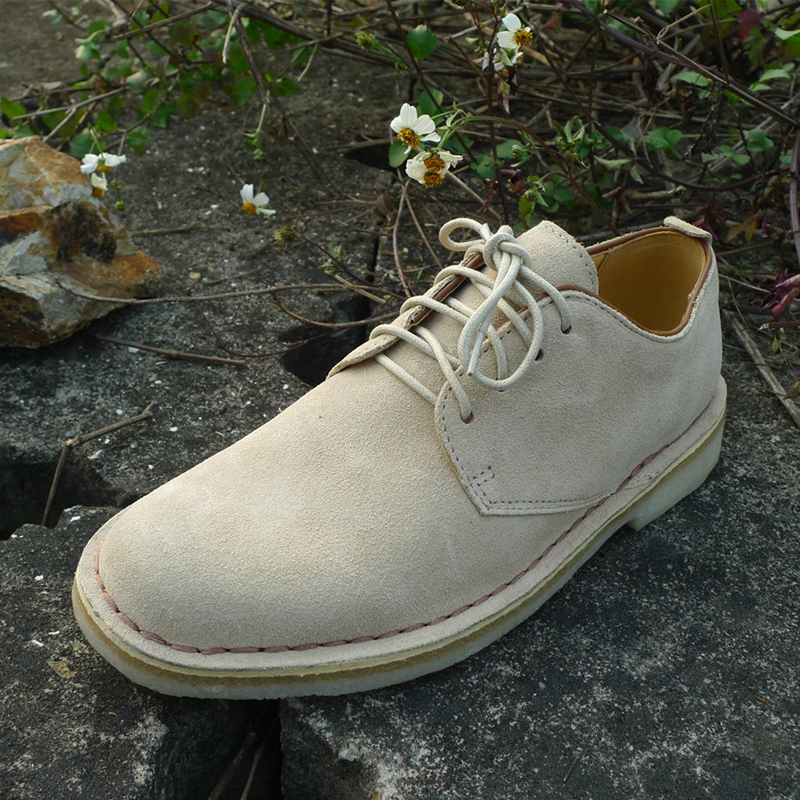 Casual mens shoes British fashion fashionable leather low top desert Oxford mens shoes