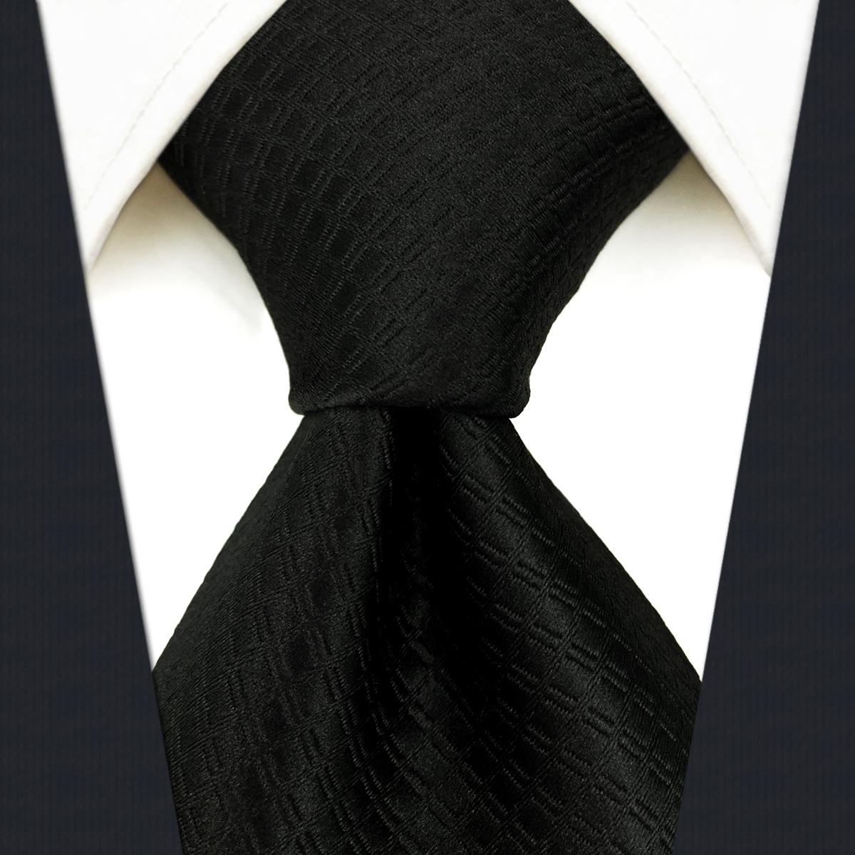 Solid black mens tie formal dress business fashion Korean version British hand tie 8cm tie package mail gift box