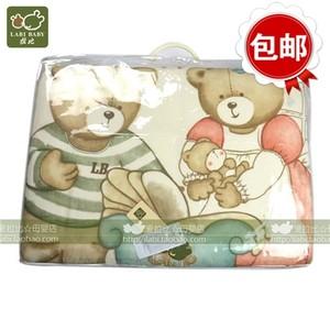 拉比正品LOFCZ10615牛奶丝被150*120婴童针织加厚大童被子可拆洗