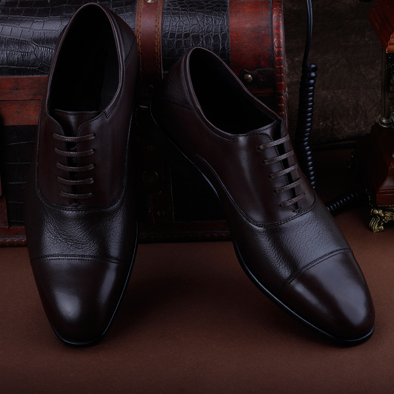 Vsnoon genuine mens shoes [vsnoon] leather with large soles and deerskin business dress shoes nx102